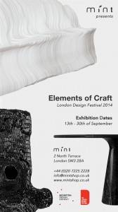 Elements of Craft w Galerii Mint podczas London Design Festival